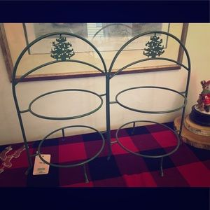 Set of 2 Holiday themed Pie/Dessert stands